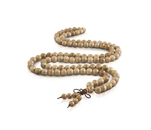 (Life Balance Wooden Mala Beads 108, 8 mm Necklace/Bracelet Prayer-Meditation Beads)