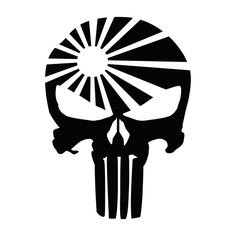 Punisher Skull Rising Sun PREMIUM Decal 5