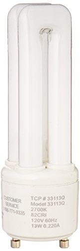 TCP 33113Q Fluorescent PL Quad Tube - 60 Watt Equivalent (only 13w Used) Soft White (2700K) 750 Lumens - GU24 Base