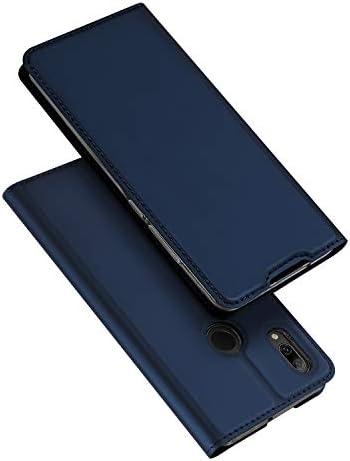 DUX DUCIS Cover Huawei P Smart 2019, Flip Caso Pelle PU con [Funzione Stand] [Slot Cart] [Chiusura Magnetica] Bumper Casein Custodia per Huawei P Smart 2019 (Blu)