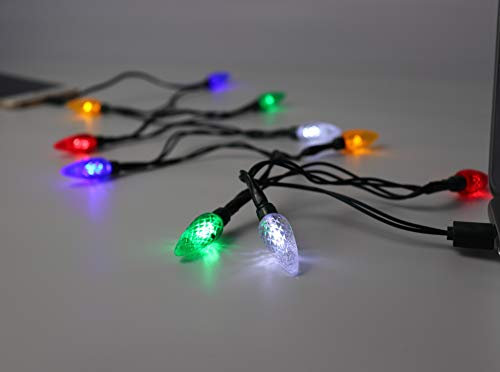 LED Christmas Lights,USB and Bulb Charger,Available with Phone 5,5s,6,6s,6plus7,7s,7plus,8,8plus,X,Xs etc