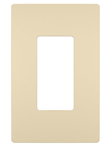 (Legrand - PASS & SEYMOUR RWP26ICC6 Radiant Single Gang Screwless Plastic Decorative wall plate, Ivory)