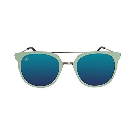 fbf2eab5c6 Gafas de sol de montura metálica The Wrong Way. Esmaltada en turquesa.  Montura fabricada en metal de calidad. Lentes de espejo cat. 3 100% UV  Protection.