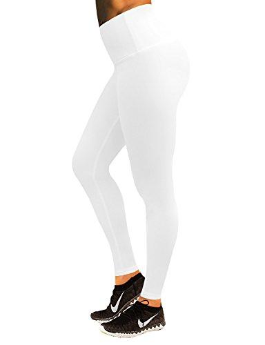BUBBLELIME Yoga Pants Running Pants High Waist Tummy Control Compression for Yoga,Bwwb002 Matte White,X-Small