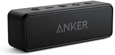Anker SoundCore 2 [Actualizado]  Altavoz Bluetooth portátil, sonido estéreo de 12 W, Bluetooth 5, BassUp, IPX7, 24 horas de reproducción, emparejamiento inalámbrico, para el hogar, aire libre, viajes