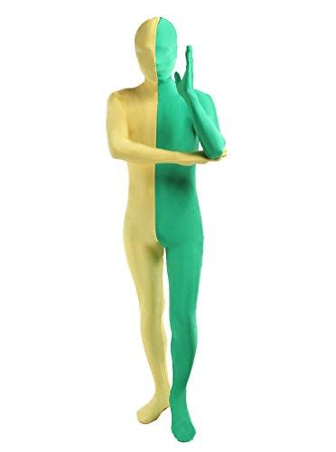 Mens-Adult-Costume-Split-Color-Breathable-Full-Bodysuit-For-Halloween