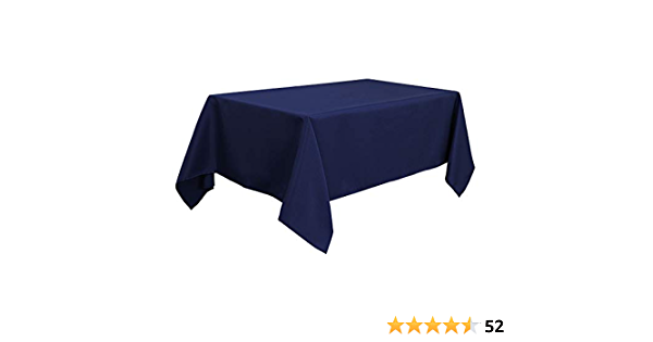 Rectangular tablecloth 145x240 white background bamboo roller 100/% polyester anti-spots