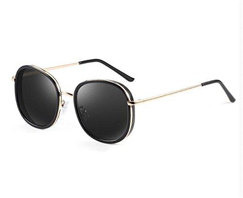 Gafas de Grados 550 Personalidad La Ceniza Degrees Black Sol de acorde con 450 Sol Negro Gafas con para Of Cara Lentes de KOMNY Miopía Ash Productos polarizadas Redonda Grados Mujeres 8R16Wzw