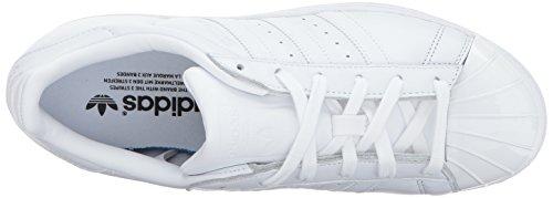 adidas Originals Damen Superstar Metal Toe W Skateschuh Weiß / Weiß / Schwarz