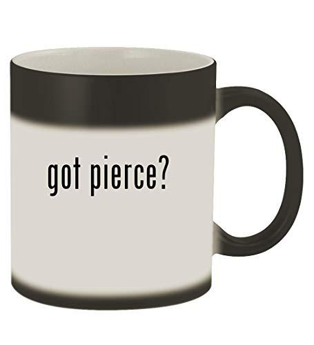 got pierce? - 11oz Magic Color Changing Mug, Matte Black (Best Place To Get Your Tongue Pierced)