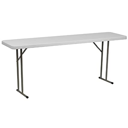 Amazoncom Flash Furniture W X L Granite White Plastic - Foldable training table