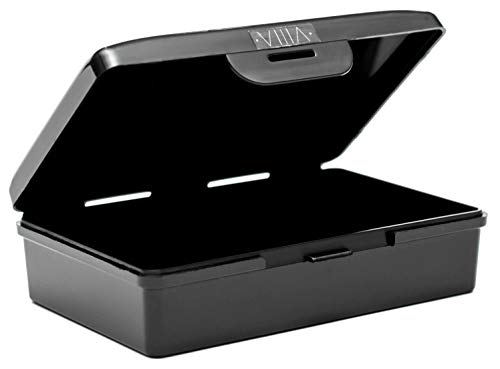 - ViiiA Travel Bar Soap Case Holder USA Made BPA & GMO Free (Single, Jet Black)
