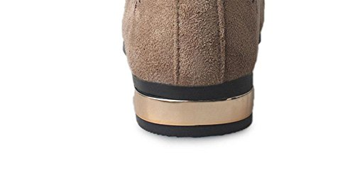 Sra zapatos de cabeza cuadrada se inclinan los zapatos planos de un pedal zapatos respirables huecos Mujeres camiseta Green