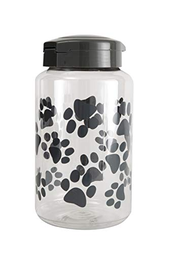 Lixit Treat Jars for Dogs (128oz, Grey)
