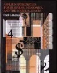 Book Applied Mathematics for Business, Economics, and the Social Sciences by Frank S. Budnick (1993-06-01)