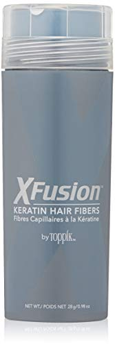 XFusion Economy Keratin Hair Fibers, Medium Brown 28g (Best Hair Fiber Powder)