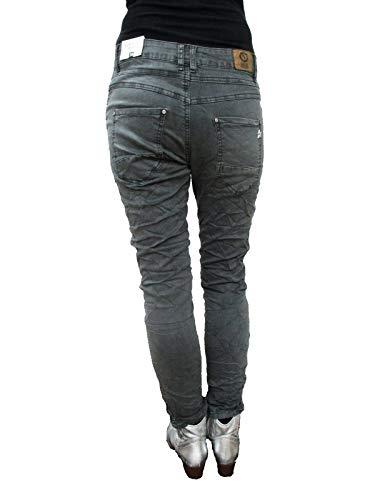 Copain Karostar Latrales Bandes Baggy Jeans Stretch Rivets Gris EO7OFqw