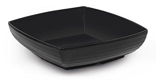 Milano ML-68-BK Square Bowl, 3 quart, Black (Pack of 6)