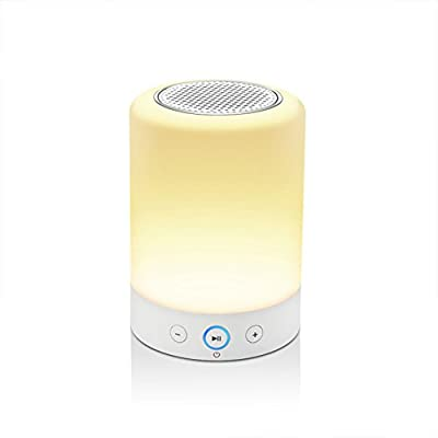 LIGHTSTORY L7 Wireless Bluetooth Speaker, Portable Touch Sensitive Night Light, RGB Color Changing LED Desk Lamp, Hands-free Speakerphone, FM Radio