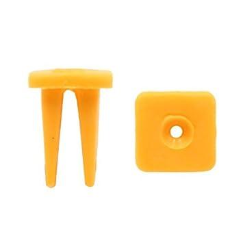 eDealMax 50Pcs amarillas de plástico Remaches pegatina Fender Fastener Retenedores DE 9 mm Para el coche