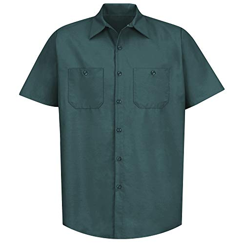 Red Kap Short Sleeve Industrial Solid Work Shirt Spruce Green X-Large - 2 Pack