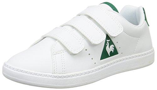 Le Coq Sportif Courtone PS S - Zapatillas Unisex Niños Blanco (Optical White/Evergr)