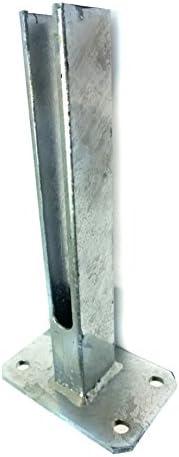 Placa de suelo para atornillar para postes metálicos, anclajes, valla Fijación: Amazon.es: Bricolaje y herramientas