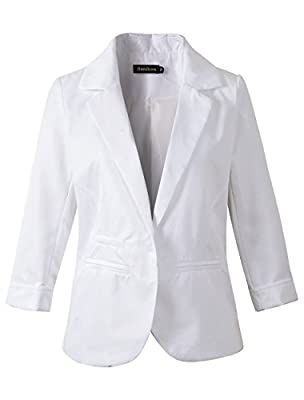 Women's Boyfriend Blazer Tailored Suit Coat Jacket