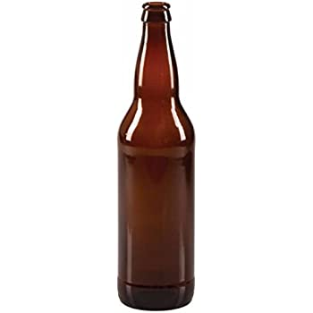 Midwest Homebrewing and Winemaking Supplies 22 oz Beer Bottles- Amber- Case of 12, Brown