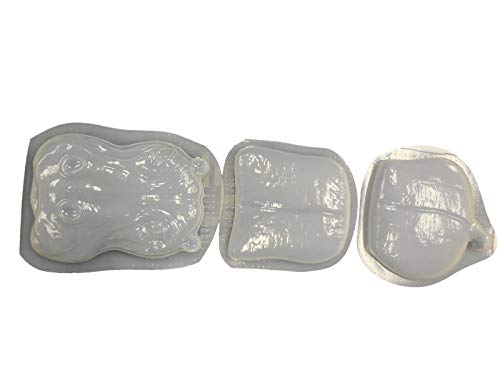 Hippo 3 Piece Concrete or Plaster Steppint Stone Mold Set 7015 ()