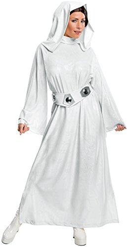 Rubie's Women's Star Wars Classic Deluxe Princess Leia Costume,White,Large (Princess Leia Halloween Costumes Adults)