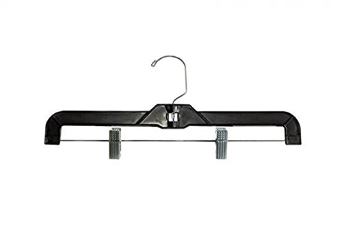 NAHANCO 2616RC Heavy Weight Skirt/Slack Hanger, 16'', Black (Pack of 100) by NAHANCO