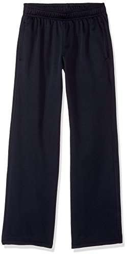 Hanes Boys' Big Tech Fleece Open Leg Pant with Pockets, Navy, Small