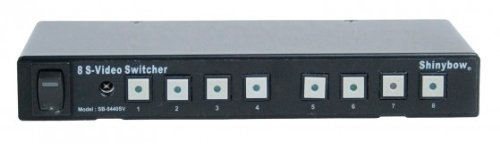 Shinybow S-video - 8x1 (8:1) S-Video S-VHS Video Switch Switcher Selector + IR Remote Control