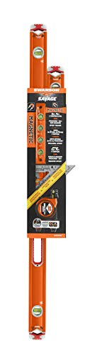 Contractor Pack (Magnetic) - Speed Square, 25 Ft. Proscribe Measuring Tape, 9 In. Torpedo Level, 24 In. and 48 In. Box Beam Levels