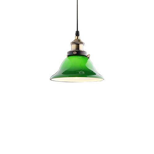 JiaYouJia Vivid Emerald Green Glass Pendant Light,Large Style
