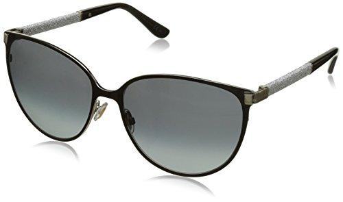 Jimmy Choo Women's Posie F8EHD Frame: Shiny Black / Lens: Grey Gradient Cat Eye  60mm Sunglasses (Jimmy Choo Sunglasses)