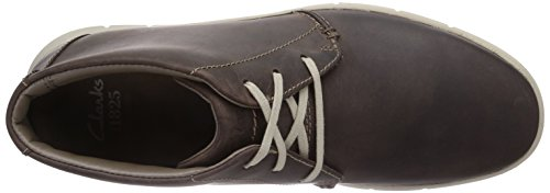 Clarks Milloy Top - Zapatos de cordones Hombre Dark Brown Leather