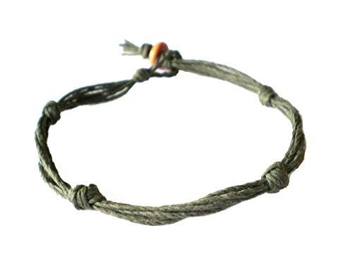 Hempnotic Jewelry Army Green Love Knot Not Barb Wire Hemp Anklet - Handmade