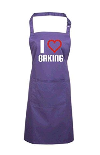 Edward Sinclair Women's I Love Baking Apron One Size Purple by Edward Sinclair (Image #1)