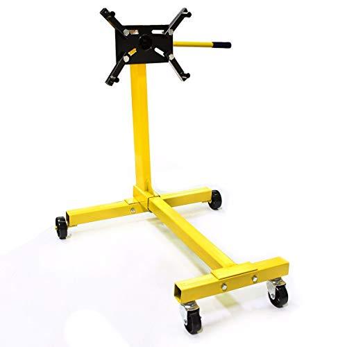 Stark Engine Stand Motor Auto Engine Hoist Automotive Jack 360 Degree Head Motor Stand 1000LBS Capacity, Yellow ()