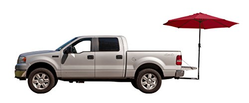 Tailbrella Crimson Tailgate Hitch Umbrella Canopy for Truck SUV Tailgater. 9FT Large Water-Resistant Tailgating Tents for Outdoor Camping, Beach, Travel, Hunting. EZ Pop Up Umbrellas for Shade -