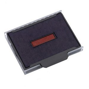 Stamps By SPC // Ideal/Trodat 5440 2-COLOR Replacement Pad // BLUE TEXT-RED DATE // Perfect For All Ideal/Trodat 5440 2-COLOR Self-Inking Stamps! - Extend Stamp Life Or Change Ink (Two Color Replacement Pad)