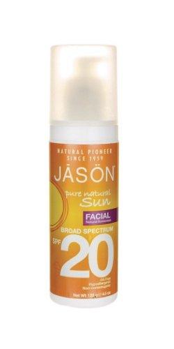 Jason Natural Facial Sunscreen, Broad Spectrum SPF 20, 4.5 Ounce (Pack of 2)