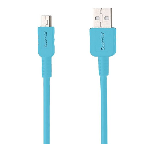 Guerrilla USB Cable for TI 84 Plus, TI 84 Plus C Silver Edition, TI 89 Titanium, TI Nspire CX & CX CAS graphing calculators, Blue (Calc Ti Nspire Cx Cas & Adaptor)