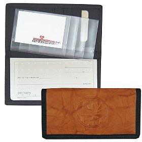 New York Islanders Leather/Nylon Embossed Checkbook Cover