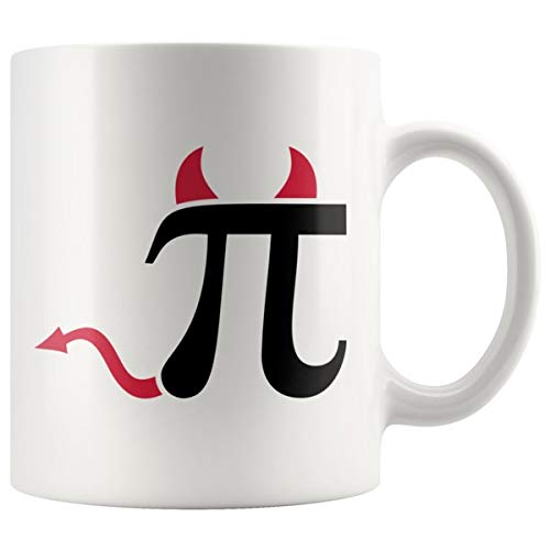 PI HORNS AND TAILS! PERFECT FUNNY GIFT for PI Math Lover, Teacher, Professor, College Student Attractive Durable White Ceramic Coffee Mug