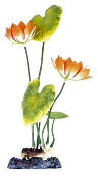 Penn Plax P3LH 10 in. Sinker Water Lily Plant - White B00304RKLK