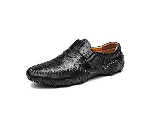 Scarpe Casual Uomo Scarpe Chic Lazy Scarpe Rete Traspirante Oxford Scarpe A Punta Testa Tonda Fondo Morbido Black
