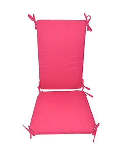 Indoor / Outdoor Solid Hot Pink Rocking Chair 2 Pc Foam Cushion Set ~ Fits Cracker Barrel - Rocking 2 Rocker Slat Chair